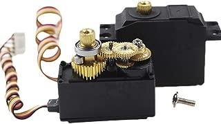 ETbotu for WlToys 12428 12423 12628 RC Cars Parts Metal Gear Servo Steering Gear Model Part
