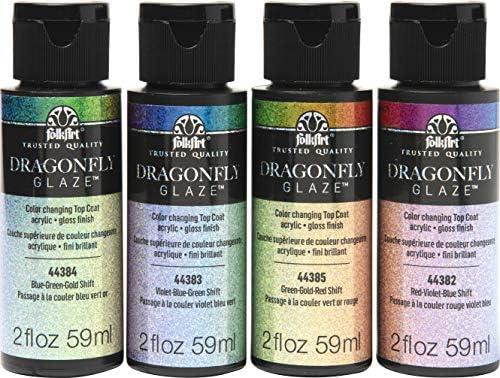 FolkArt Dragonfly Glaze Paint 4 Pack product image