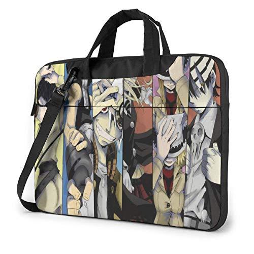 15.6 inch Laptop Shoulder Briefcase Messenger Anime Soul Eater Tablet Bussiness Carrying Handbag Case Sleeve