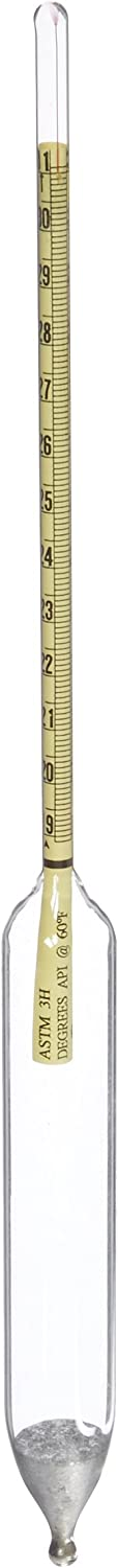 Chase Instruments ASTM3H ASTM American Petroleum Institute Hydrometer, 3H ASTM, 19 to 31 API Range, 0.1mm Interval, 330mm Length