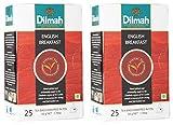 DILMAH Black Tea English Breakfast, 50 Grams (50 Tea Bags, Pack of 2)