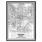 Calgary Kanada Karte Wandkunst Leinwand drucken Poster