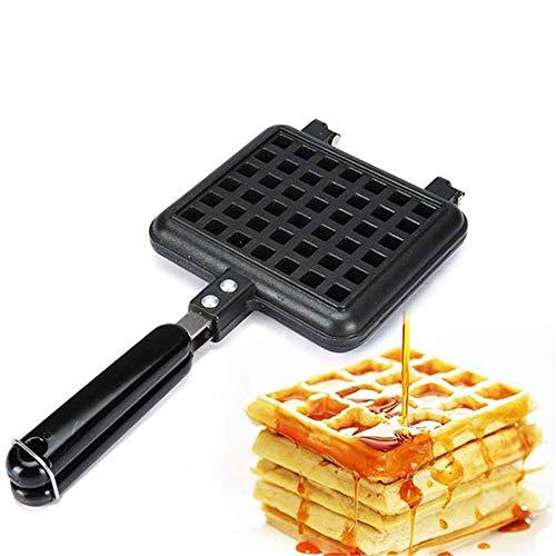 Find Bargain LQKYWNA Household Waffle Bake Pan Aluminum Alloy Kitchen Non-Stick Waffle Maker Pan Mol...