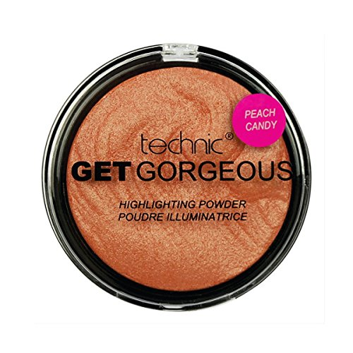 Technic Get Gorgeous Peach Candy relieve en polvo, 12 g