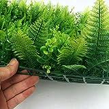 40 * 60cm Césped de Plantas Flor Hierba Hoja Enredaderas Artificiales Pared Adorno