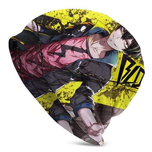 Blood Lad-Staz Anime Style Strickmütze Unisex Beanie Skull Cap Warme Wintermütze Leicht und Atmungsaktiv