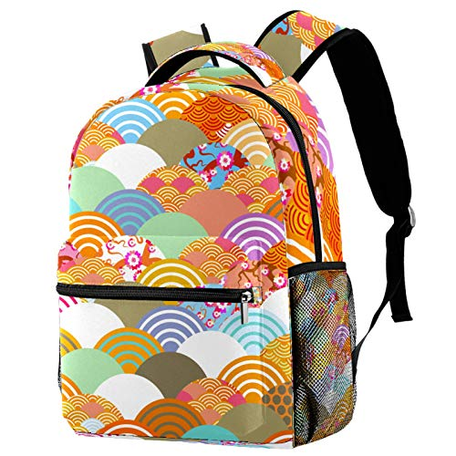 Mochila de mariquita y abejas de mariposa para la escuela, mochila para senderismo, mochila de viaje para mujeres y hombres