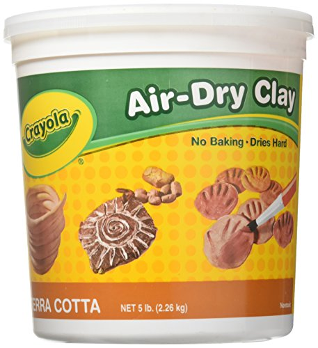 Crayola Air Dry Clay, Terra Cotta, 5 lb. Resealable Bucket, Modeling Clay for Kids