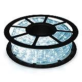 COSTWAY 10M LED Lichterschlauch Lichtschlauch Lichterkette für Außen und Innen mit 360 LEDs...
