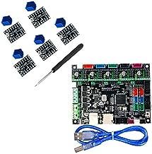 BZ 3D Controller Board MKS SGen L V1.0 32-bit Motherboard Compatible Uart/SPI Open Source Marlin2.0/Smoothieware with MKS TMC2208/2209 Steep Motor Driver for 3D Printer Parts (Board+TMC2209 V2.0)