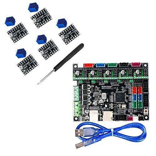 BZ 3D MKS SGen L V1.0 32bit Controller-Platine Uart/SPI Kompatibel mit Marlin2.0 Smoothieware +5 STÜCKE TMC2209 V2.0 Support TFT24/28/32/35 (Board+TMC2209*5)