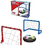 VAIDIKA Air Hover Football Toy with 2 Portable Goal Posts, Indoor Play Game for Kids