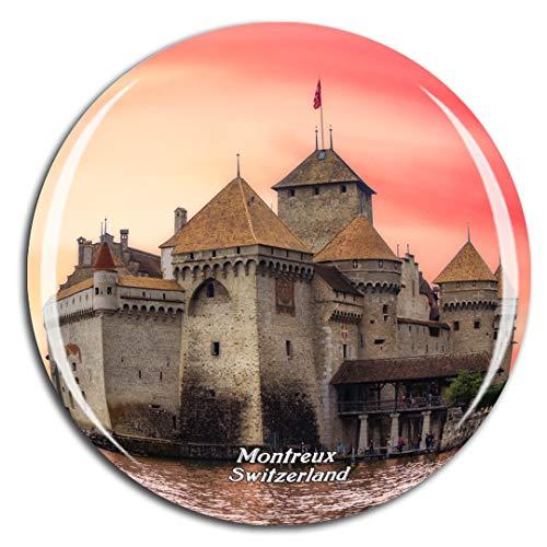Weekino Svizzera Castello di Chillon Montreux Calamità da frigo 3D Cristallo Bicchiere Tourist City Viaggio Souvenir Collezione Regalo Forte Frigorifero Sticker
