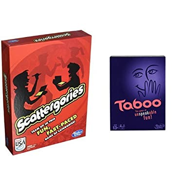 Scattergories Game and Taboo Board Game Bundle
