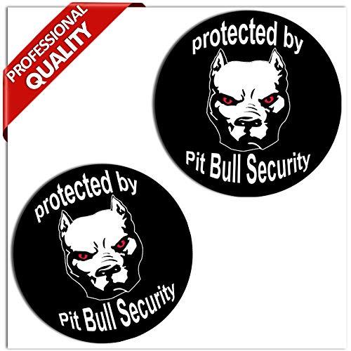 Skino 2 stuks vinyl stickers autostickers dog hond pitbull beveiliging auto motorfiets fiets tuning B 104