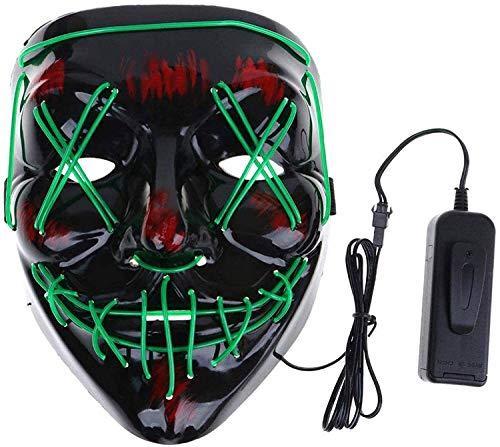Máscara LED Halloween, Máscara de Grimace de...