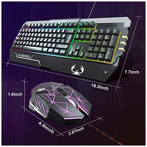 Teclado para Juegos RGB Juego de Teclado y Mouse para Juegos Retroiluminación LED RGB Optimamente Programable para PC… 4