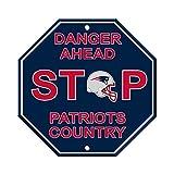 Fremont Die NFL New England Patriots Team Sign, 12' x 12', Stop Sign