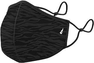 Abbacino Mascarilla reutilizable adulto estampado cebra negra