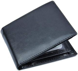 Zfl-flsnsqb Men's Wallet, محفظة للرجال ضئيلة bifold الأعمال الصلبة الجلود الفاخرة المحفظة قصيرة المحافظ معرف بطاقة الائتما...
