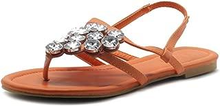 Women's Shoes T Strap Thong Rhinestone Flat Sandals M1614