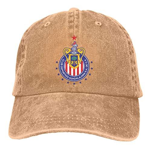 Lsjuee Guadalajara Chivas Gorras de béisbol Ajustables Sombreros de Mezclilla Sombrero de Vaquero Gorra para...