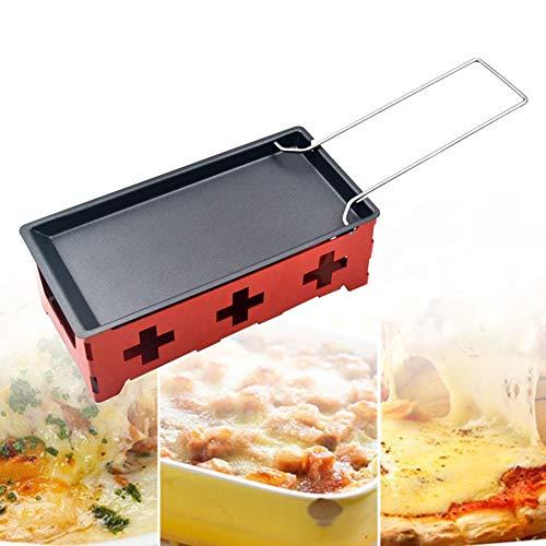 Raclette Grill-Set, tragbar, antihaftbeschichtet, Käsebräter Backblech mit...