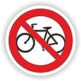 Fahrrad fahren verboten / VER-02 / Sicherheitszeichen / Piktogramme / DIN EN ISO 7010 (10cm)