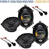 Compatible with Ford F-250/350/450/550 2005-2012 OEM Speaker Upgrade Harmony (2)...
