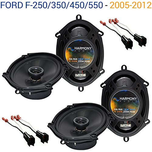 Compatible with Ford F-250/350/450/550 2005-2012 OEM Speaker Upgrade Harmony (2) R68 Package New