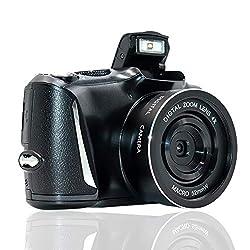 Fotocamera Digitale Full HD 2.7K / 20FPS Macchina Fotografica Fotocamera da 48,0 Megapixel con Zoom Digitale 4X e Fotocamera Compatta con Schermo da 3,0 Pollici per la Fotografia per Principianti