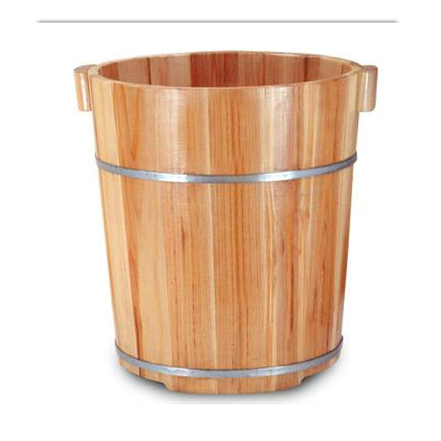 厄介な用心する拳足浴槽、40センチメートルモミ足洗浄バレル、カバー付き足洗浄バレル、燻蒸マッサージ、女性用男性大人子供用 (Size : A)