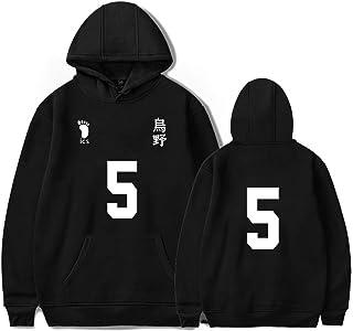 AQBZFHJ Haikyuu Hinata Shoyo Cosplay Casual Hoodies Costume Volleyball Sweatshirt Pullover Sweater for Adult