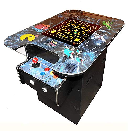 Doc and Pies Arcade Factory Cocktail Machine with LCD Screen and 60 Retro Games including Super Cobra, Galaga, Centipede, and More, Black