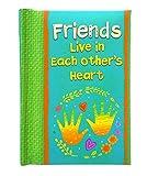 Blue Mountain Arts Livro de lembrança'Friends Live in Each Other's Heart' 10,16 x 7,62 cm. Livro de presente de amizade com tamanho de bolso sentimental perfeito para aniversário