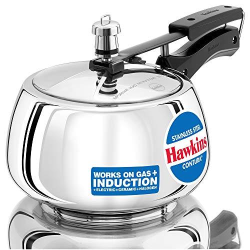 HAWKINS STAINLESS STEEL CONTURA PRESSURE COOKER 3 LITRES