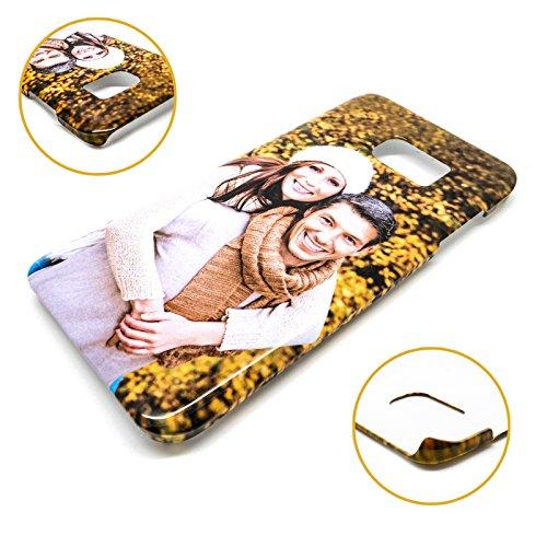 PixiPrints Foto-Handyhülle mit eigenem Bild kompatibel mit Samsung Galaxy S7 Edge, Hülle: 3D-Hülle in Glänzend mit seitlichem Druck, personalisiertes Premium-Case selbst gestalten mit High-End-Druck