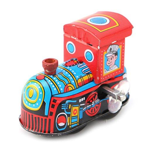 Vektenxi Retro Uhrwerk Dampfzug Spielzeug Kinder Vintage Blechspielzeug Aufziehspielzeug Geschenk langlebig und nützlich