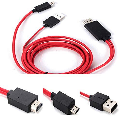 Pergrate Micro USB a HDMI 1080P HD TV Adaptador de Cable 11Pin Duración para Teléfono Móvil Tableta