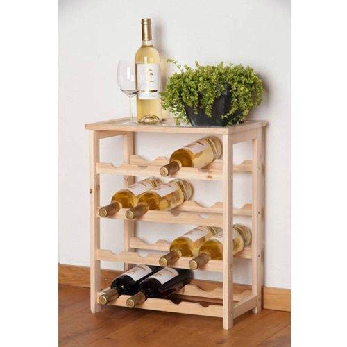 Unbekannt Weinregal Holz ausreichend für 16 Flaschen 46 x 23 x 55 cm, Natur (1 Stück)