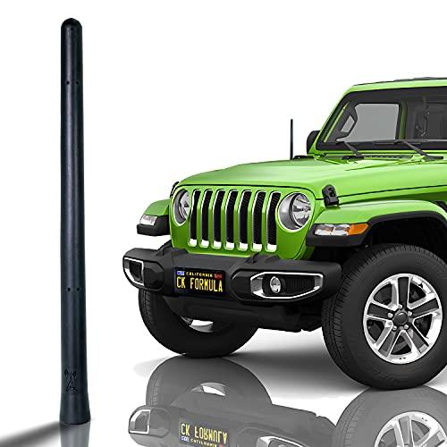 "CK FORMULA Bending SUV Antenna, 7"" Black Automotive Antenna Replacement, AM/FM Radio Compatibility, Internal Copper Coil, Anti Theft Design, Car Wash Safe, Universal Fit, 1 Piece"