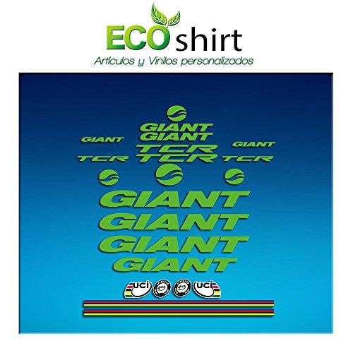 Ecoshirt QW-3RDT-82ZH sticker lijst Giant TCR Am21 sticker sticker fiets BTT MTB Cycle groen