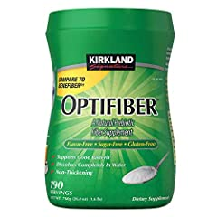 Natural Fiber Supplement; no flavor; no sugar; no lactose; no artificial coloring Completely Dissolves in Water Non-Thickening, no Grit 190 Servings