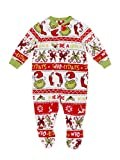 Matching Family Christmas Pajamas Unisex Dr. Seuss The Grinch Union Suit Sleeper (12m) Red