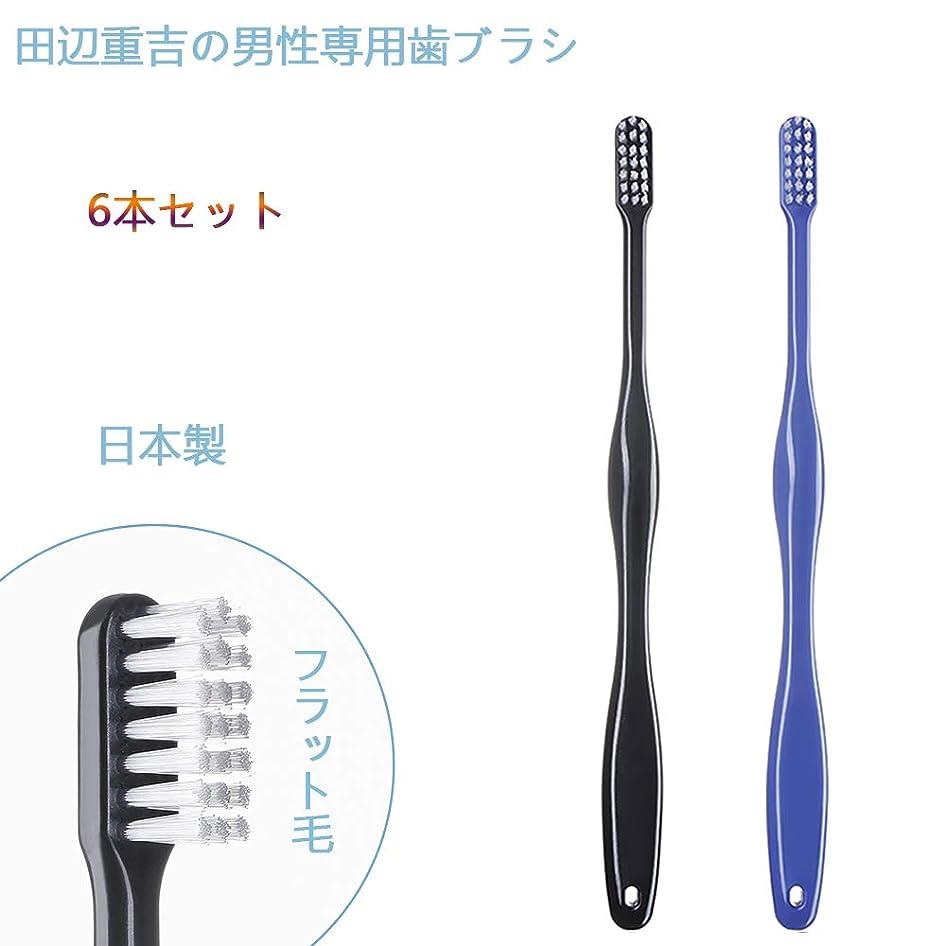 に賞賛カウンターパート歯ブラシ職人 Artooth ? 田辺重吉の磨きやすい 男性専用 歯ブラシ MEN' S 日本製 耐久性UP 6本セットLT-08(色おまかせ)