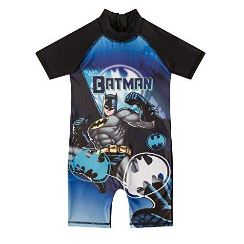 DC Comics Batman Official Gift Toddler Boys Kids Swim Surf Suit Blk 18-24 Mnths