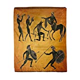 rouihot 50x60 Inches Flannel Throw Blanket Ancient Greece Scene Greek Mythology Centaur People Gods Home Decorative Warm Cozy Soft Blanket for Couch Sofa Bed