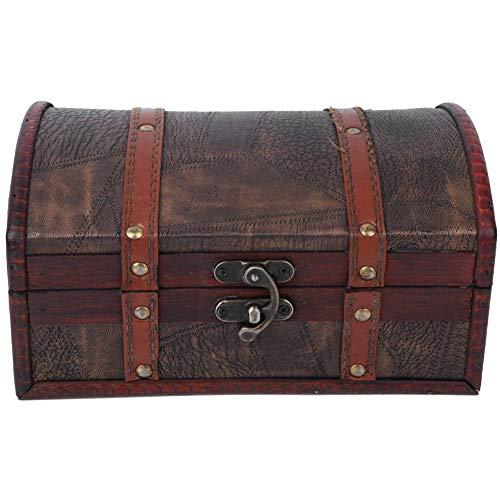Bicaquu Boîte de Rangement Antique de ménage, boîte de Rangement Antique boîte de Collection d'artisanat Vintage, Bijoux pour Accessoires Femmes Maison(Without Lock)