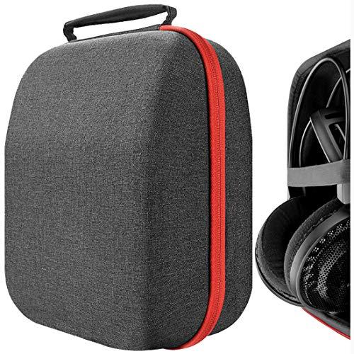 Geekria UltraShell Kopfhörer-Hülle für Audio Technica ATH AD700 X, AD500 X, AD900 X, AD1000 X, W2000 X, W5000, ADG1 X, Full Size Hartschalen-Tragetasche, Headset-Reisetasche mit Platz für Teile