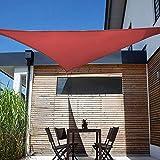Shade&Beyond Sun Shade Sail Triangle 12'x12'x17' UV Block for Yard Patio Lawn Garden Deck Rust Red